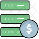 Financial Database Database Cost Database Price Icon