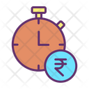 Financial Deadline Finance Stopwatch Icon
