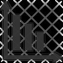 Bar Graph Loss Icon
