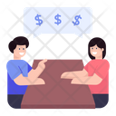 Business Discussion Financial Discussion Financial Conversation Icon