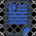 Bill Finance Invoice Icon