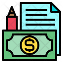 Money File Pen Icon