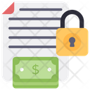 Financial Document Security Document Protection Locked Document Icon