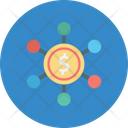 Financial Exchanges Financial Institutions Financial Network Icon