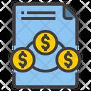 File Money Exchange Financial File Finance File Icon