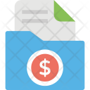 Finance Folder Budget Icon