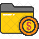 Financial Folder Data Icon