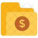 Financial Folder Dollar Icon