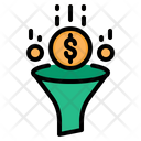 Financial Funnel Money Filter Dollar Filter Icon
