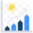 Financial Graph Cash Analysis Business Analytics Icon