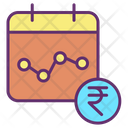 Imarketing Chart Rupees Financial Graph Rupee Marketing Chart Icon