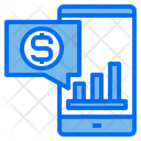 Phone Graph Online Icon