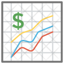 Financial Graph Line Icon