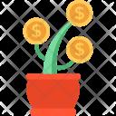 Finance Growth Dollar Icon