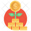 Money Plant Investment Financial Growth Icon
