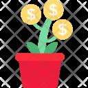 Financial Growth Dollar Icon