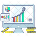 Business Growth Financial Growth Data Analytics Icon