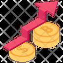 Cryptocurrency Growth Dollar Growth Money Growth Icon