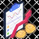 Financial Chart Financial Graph Financial Growth Icon