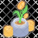 Money Growth Money Plant Business Development Icon