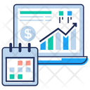 Financial Growth Schedule Icon