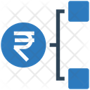 Rupees Network Rupees Hierarchy Rupees Icon