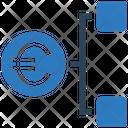 Euro Network Euro Hierarchy Euro Icon