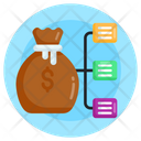 Financial Network Finance Shared Network Financial Hierarchy Icon