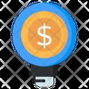 Financial Idea Money Idea Financial Innovation Icon