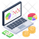 Financial Chart Financial Graph Business Analytics Icon