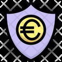 Euro Euro Security Shield Icon