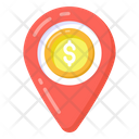 Business Location Financial Location Money Location Icon