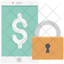 Financial Lock Mobile Lock Dollar Mobile With Lock Icon
