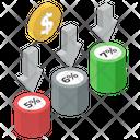 Financial Decrease Decrease Chart Financial Infographic Icon