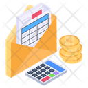 Business Mail Financial Mail Business Email Icon
