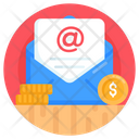 Business Mail Financial Mail Currency Mail Icon