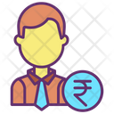 Iman Rupees Financial Man Financier Icon