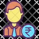 Financial Man Icon