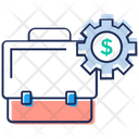 Financial Management Business Management Portfolio With Gear Icon
