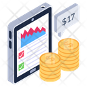 Business App Data Analytics Financial App Icon