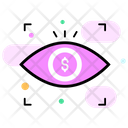 Eye Monitoring Financial Monitoring Business Monitoring Icon
