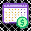 Financial Calendar Dollar Icon