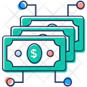 Financial Network Money Network Money Flow Icon