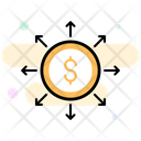 Business Services Business Network Financial Network Icon
