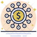 Financial Network Money Network Business Network Icon