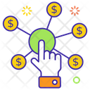 Financial Network Interactivity Touch Gesture Icon