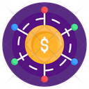 Cash Network Financial Network Financial Connection Icon