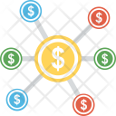 Financial Network Commerce Icon