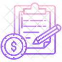 Financial Note Icon