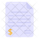 Financial Paper Financial Order Financial Document Icon